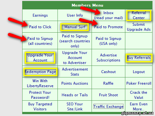 No-minimum Members Menu